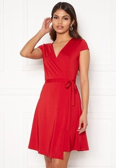 Chiara Forthi Sonnet Mini Wrap Dress s/s Red Bubbleroom.dk
