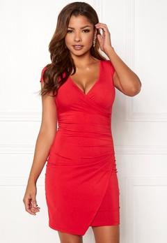 Chiara Forthi Soprano Wrap Dress Red Bubbleroom.dk