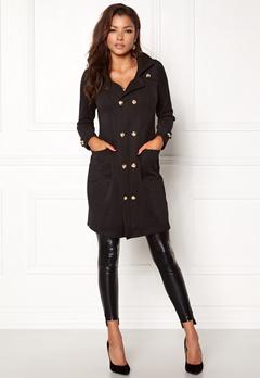 Chiara Forthi Sottovalle Jersey Coat Black Bubbleroom.dk