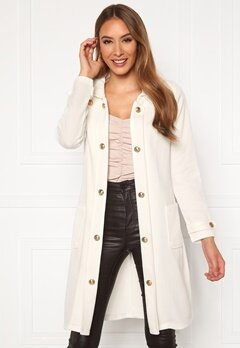 Chiara Forthi Sottovalle Jersey Coat Offwhite Bubbleroom.dk