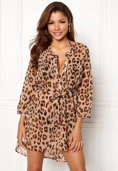 Chiara Forthi Spiaggia Shirt Dress Leopard Bubbleroom.dk