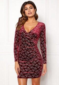 Chiara Forthi Sprinkle Velvet Dress Dark fuchsia Bubbleroom.dk