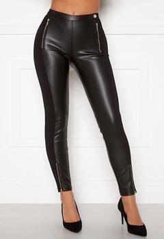 Chiara Forthi Stansie coated leggings Black Bubbleroom.dk