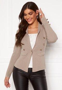 Chiara Forthi Stella heavy knit blazer Grey-beige Bubbleroom.dk