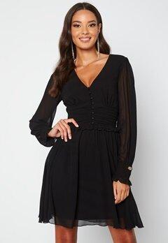 Chiara Forthi Sue Ruffle Dress Black bubbleroom.dk