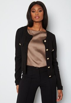 Chiara Forthi Teresina short button jacket Black bubbleroom.dk