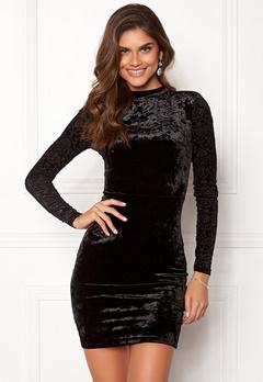 Chiara Forthi Theresa velvet dress Black Bubbleroom.dk