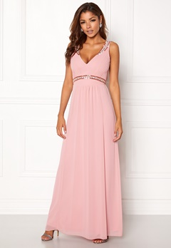 Chiara Forthi Tilia Embellished Dress Powder pink Bubbleroom.dk
