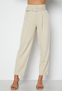 Chiara Forthi Traviata soft suit pants Light beige bubbleroom.dk