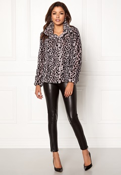 Chiara Forthi Venezia Faux Fur Jacket Leopard Bubbleroom.dk