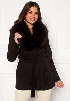 Chiara Forthi Verona Short Coat Black Bubbleroom.dk