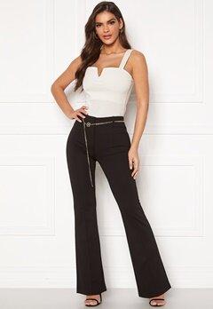Chiara Forthi Veronique chain belt pants Black Bubbleroom.dk