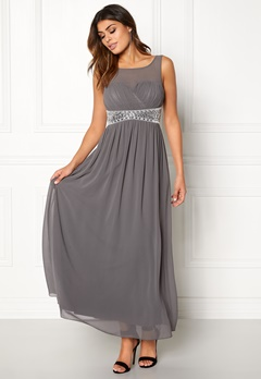 Chiara Forthi Vertigo Embellished Dress Dark grey Bubbleroom.dk