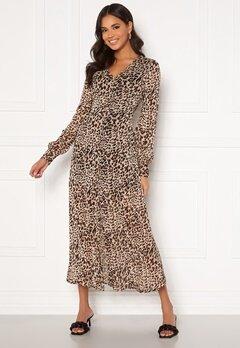 Chiara Forthi Virginia chiffon dress Leopard Bubbleroom.dk