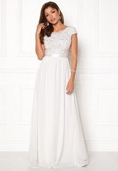 Chiara Forthi Viviere Sparkling Gown White Bubbleroom.dk