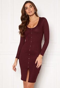 Chiara Forthi Volante button dress Wine-red Bubbleroom.dk