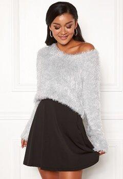 Chiara Forthi Woop sparkle sweater Silver Bubbleroom.dk