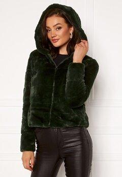 ONLY Chris Fur Hooded Jacket Rosin Bubbleroom.dk