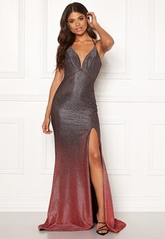 Christian Koehlert Dream Glitter Dress Glitter Grey & Red Bubbleroom.dk