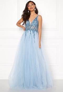 Christian Koehlert Sparkling Tulle Dream Dress Aqua Blue Bubbleroom.dk