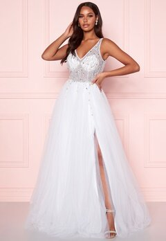Christian Koehlert Sparkling Tulle Wedding Dress Snow White Bubbleroom.dk