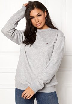 TOMMY JEANS Classics Sweatshirts 038 LT Grey Bubbleroom.dk