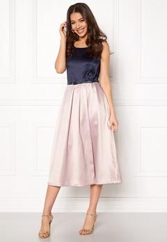 Closet London Midi Dress With Belt Navy/blush Bubbleroom.dk