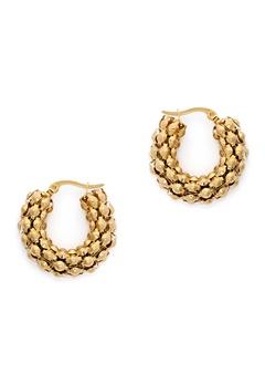 WOS Coco Hoops Earrings Guld Bubbleroom.dk