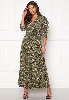 co'couture Alina Flower Wrap Dress Mustard Bubbleroom.dk