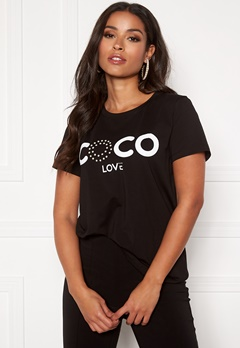 co'couture CL Pearl Tee Black Bubbleroom.dk