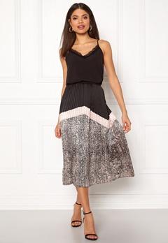 co'couture Cobra Plisse Skirt Nude Rose Bubbleroom.dk