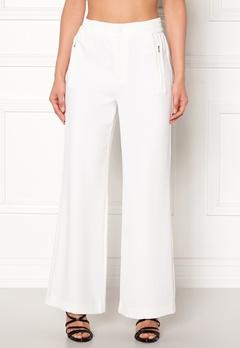 co'couture Eden Flare Pant Pants Offwhite Bubbleroom.dk