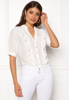 co'couture Essential Frill Shirt Off White Bubbleroom.dk