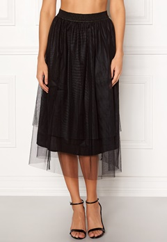 co'couture Glitter Mesh Skirt Black Bubbleroom.dk