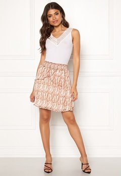 co'couture Golden Tiger Skirt Off White Bubbleroom.dk
