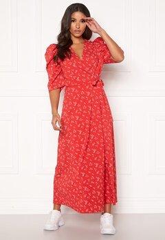 co'couture Springalina Wrap Dress Tomato Bubbleroom.dk