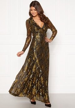 co'couture Turner Lace Dress Gold Bubbleroom.dk