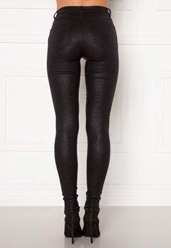 VILA Commit Glitter Coat Jeans Black Detail:Glitter Bubbleroom.dk