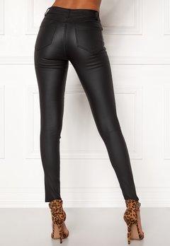 VILA Commit New Coated Jeans Black bubbleroom.dk