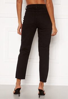 OBJECT Connie Cropped Jeans Black Bubbleroom.dk