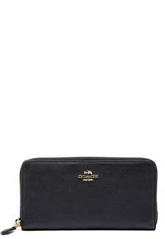 COACH Cordion Zip Around Wallet LIBLK Black Bubbleroom.dk