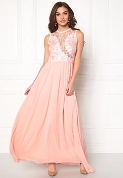 AX Paris Crochet Top Maxi Dress Pink Bubbleroom.dk