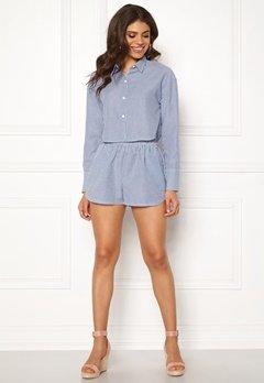 Ivyrevel Cropped Shirt Blue Mix Bubbleroom.dk