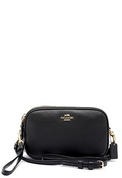 COACH Crossbody Clutch Leather LIBLK Black Bubbleroom.dk
