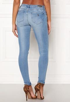 Guess Curve X Jeans Bleach Feather Bubbleroom.dk