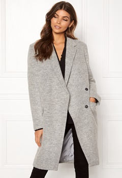 DAGMAR Anissa Coat Light Grey Melange Bubbleroom.dk