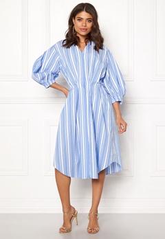 DAGMAR Chloe Dress Blue Stripe Bubbleroom.dk