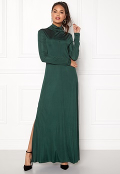 DAGMAR Joan Dress Emerald Green Bubbleroom.dk