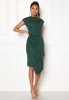 DAGMAR Josie Dress Emerald Green Bubbleroom.dk