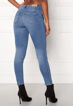 ONLY Daisy Reg Pushup Ankle Jeans Light Blue Denim Bubbleroom.dk